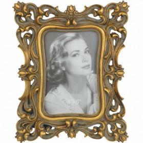 Bewerkt fotolijstje in vintage stijl - goudkleurig