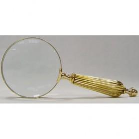 Goud- messingkleurig vergrootglas met massief handvat 920gi
