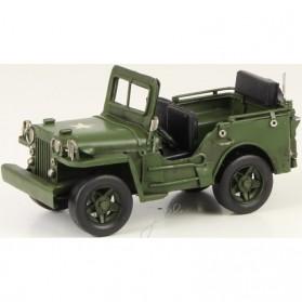 Groene leger jeep van blik uit tweede wereldoorlog 522lb