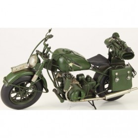 Groene leger motor van blik Harley Davidson stijl 432lb