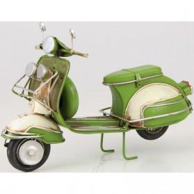 Groen met witte blikken Vespa scooter 322lb