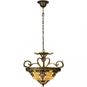 Hanglamp Tiffany uit Orchard serie Clayre and Eef 1555-ll5