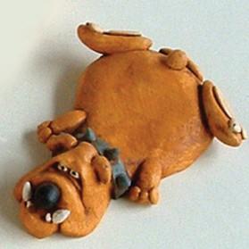 Hond koelkastmagneet Paolo Chiari pc3361