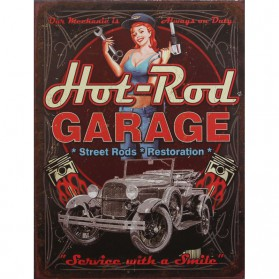 Hot Rod garage decoratie bordje 955sn