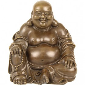 Hotei de lachende boeddha bronzen beeldje 41ls