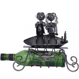 Bootje - Huwelijksbootje wijnfleshouder