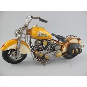 Indian motor - geel - blikken woondecoratie 801133