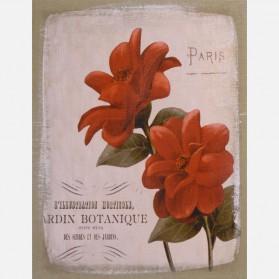 Jardin Botanique schilderij op jute