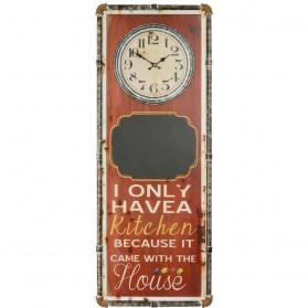 Keuken klok met krijtbord 991fs