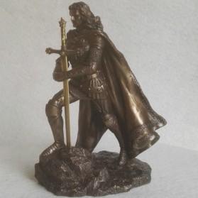King Arthur - beeldje - excalibur - briefopener - bronskleurig - 14x12x20cm