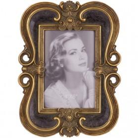 Klassiek fotolijstje zwart met goudkleurig