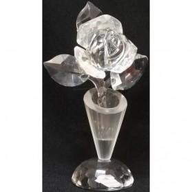 Kristallen roos in vaasje st2308