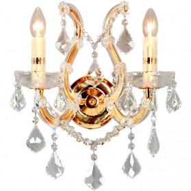 Kristallen wandlamp met goudkleurige accenten og91rcll5