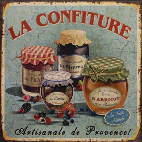 La confiture blikken decoratie bordje 365sn