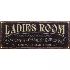 Ladies Room decoratie bordje