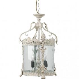 Lantaarn in natuurtint ijzeren hanglamp n83504