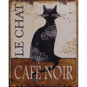 Le Chat café noir blikken decoratie bordje 213sn