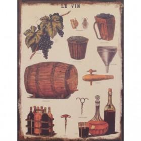 Le vin decoratie bordje over wijn 933sn