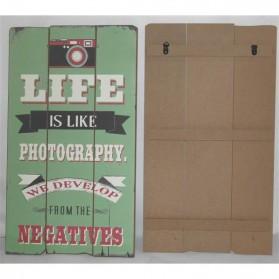 Life is like photography houten decoratiebord 1753me