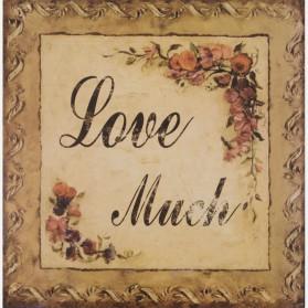 Love Much decoratie bordje