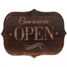 Luxe come in we re open decoratie bordje 134sn