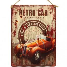 Luxe decoratie bordje Retro car Vintage style 075sn