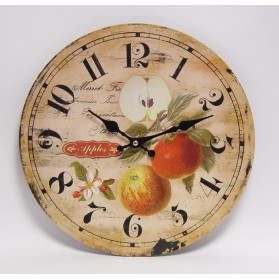 MDF wandklok met appels 931fs