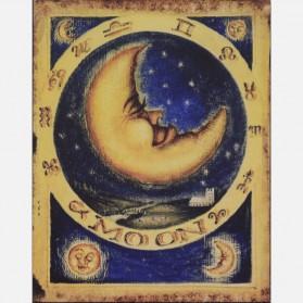 Moon decoratie bordje