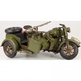Motor met zijspan uit tweede wereldoorlog van blik
