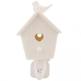 Nachtlampje in vorm van vogelhuisje Clayre and Eef