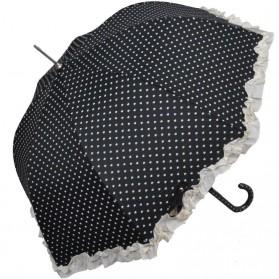 Nylon paraplu met rouches en hartjes z1000ulp4w