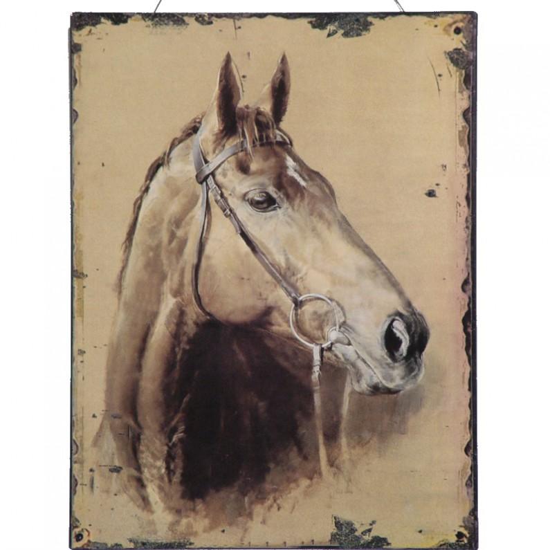 Hoofd van een paard decoratie bordje - Decoratie van een gang ...