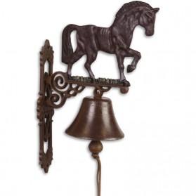Paard - gietijzeren bel - gietijzer - 30x14x43cm