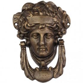 Pallas Athena gezicht van godin - gietijzeren deurklopper 27pj