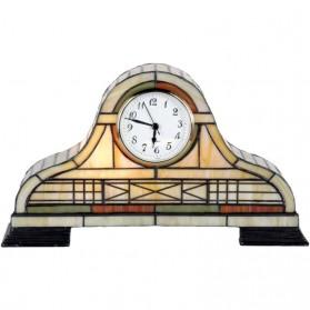 Pendule achtige klok Tiffany stijl Clayre and Eef