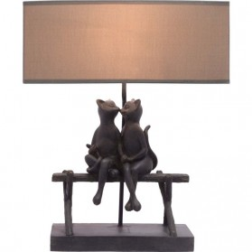 Poezen schemerlamp