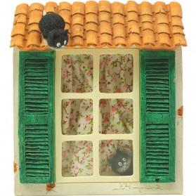 Poezen voor raam beeldje Dubout