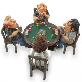 Pokertafel met pokeraars beeldje Warren Stratford 1149