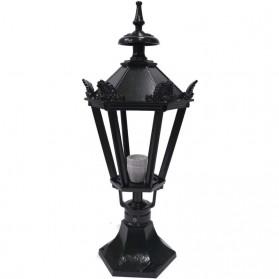 Postlamp lantaarn van groen aluminium 60 - 80 of 95 cm