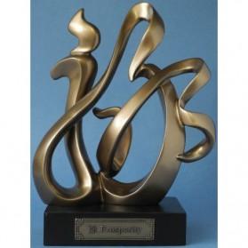 Prosperity bronskleurig beeld chinese tekens 33867uw
