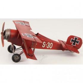 Red Baron propellorvliegtuig blikken woondecoratie
