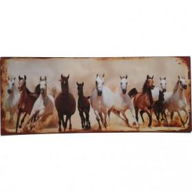 Rennende wilde paarden blikken decoratie bordje sl9845
