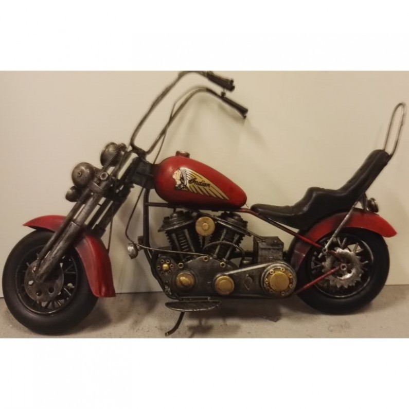 Rode Indian motor chopper blikken woondecoratie 610ls