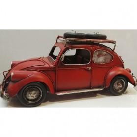 Rode Volkswagen Kever als spaarpot en fotolijstje