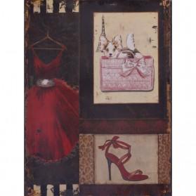 Alles uit een vintage kledingkast decoratie bordje