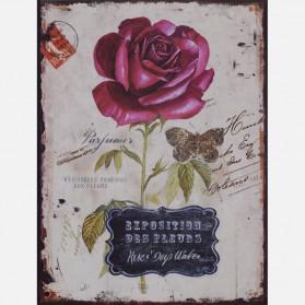Aankondiging bloemen tentoonstelling decoratie bordje