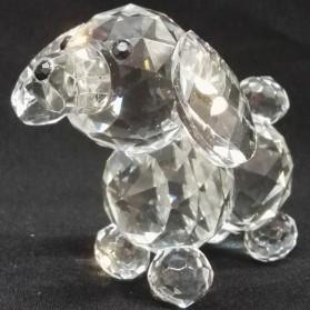 Schattig klein hondje van kristal st936