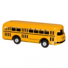 Nostalgisch blikken speelgoed Schoolbus