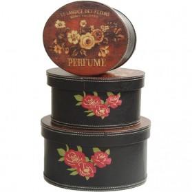 Opbergdozen set van 3 perfume