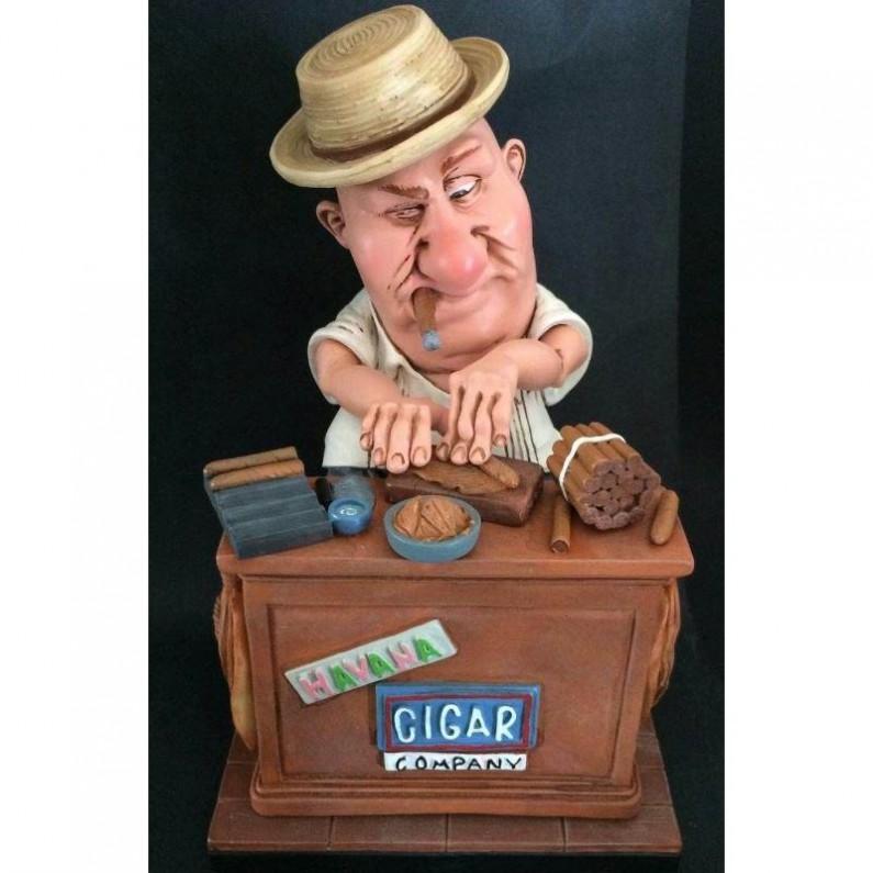 Sigarendraaier beeldje Warren Stratford 25 cm 310W